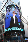 Johnny Rabe  and the cast of 'A Christmas Story, The Musical'  ringing  the NASDAQ Stock Market Opening Bell at NASDAQ, Times Square in New York City on December 20, 2012