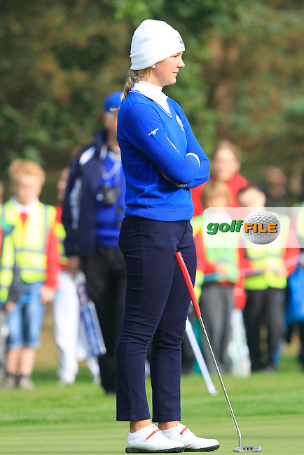 Linnea Strom (SWE) on the 13th green during the 2014 JUNIOR RYDER CUP at the Blairgowrie Golf Club, Perthshire, Scotland. Picture:  David Lloyd / www.golffile.ie