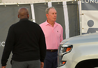 MIAMI BEACH, FL - APRIL 07: (EXCLUSIVE COVERAGE) Billionaire and former Mayor of New York Michael Bloomberg is seen leaving horse jumping with daughters Emma Bloomberg, Georgina Bloomberg along with her son Jasper Michael Brown Quintana and her boyfriend Carlos Arruza Jr at the Longines Global Champions Tour stop day 3 in Miami Beach on April 7, 2018 in Miami Beach, Florida.<br /> People:  Michael Bloomberg <br /> CAP/MPI122<br /> &copy;MPI122/Capital Pictures