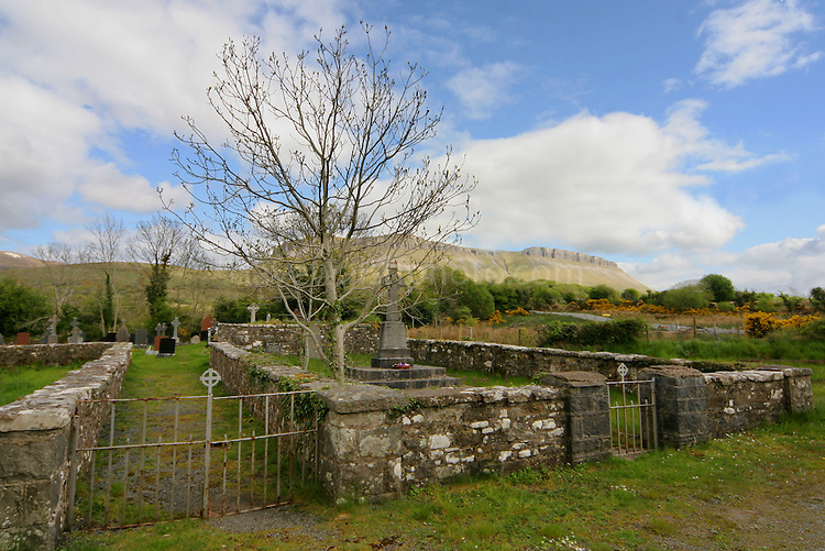 This cemetery in Glenade, Co. Leitrim, Ireland, is the site of an 18th century grave of a woman called 'Grace' alledgedly killed by a Dobhar Chu - a lake monster also known as the 'master otter'.  More:..http://www.blather.net/archives2/issue2no15.html