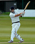 Cricket Scotland Scottish Cup - Uddingston CC V Dunfermline CC at Arbroath CC - Uddy overseas amateur Alecz Day hits out on his way to a match-winning 59 to help Uddy retain the Cup - Picture by Donald MacLeod - 20.08.11 - 07702 319 738 - www.donald-macleod.com