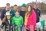 GATHERING: Gathering were locals from Abbeydorney to support their St Patrick's Day parade on Wednesday in Abbeydorney. Front l-r: Clodagh Bolger, maisy and Lucey Falvey. Backl l-r: Monty Foley, Mary Falvey, Sony Egan and JP O'Connell.................................. ....
