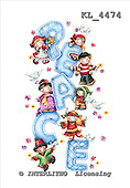 Interlitho, CHRISTMAS CHILDREN, WEIHNACHTEN KINDER, NAVIDAD NIÑOS, paintings,+Santa,++++,3 peace,kids,KL4474,#xk# stickers