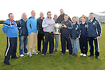 Club members pictured with the Sam Maguire cup at Newtown Blues GAA club. Photo: Colin Bell/pressphotos.ie