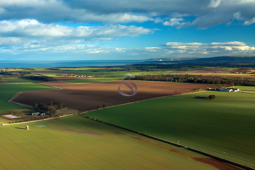 The East Lothian Coastline from North Berwick Law, East Lothian