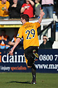 Liam Hughes of Cambridge United celebrates after scoring the opening goal during the Blue Square Bet Premier match between Cambridge United and York City at the Abbey Stadium, Cambridge on 19th March, 2011.© Kevin Coleman 2011