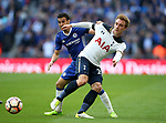 Chelsea's Pedro tussles with Tottenham's Christian Eriksen during the FA Cup Semi Final match at Wembley Stadium, London. Picture date: April 22nd, 2017. Pic credit should read: David Klein/Sportimage