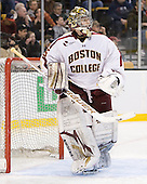 Parker Milner (BC - 35) - The Boston College Eagles defeated the Providence College Friars 4-2 in their Hockey East semi-final on Friday, March 16, 2012, at TD Garden in Boston, Massachusetts.