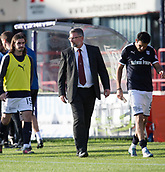 30th September 2017, Dens Park, Dundee, Scotland; Scottish Premier League football, Dundee versus Hearts; Hearts' boss Craig Levein at the end