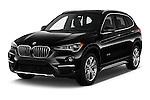 2016 BMW X1 28i 5 Door Suv Angular Front stock photos of front three quarter view