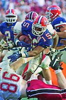 Reidel Anthony (15), University of Florida Gators defeat the University of South Carolina Gamecocks 48-17 at Ben Hill Griffin Stadium, Florida Field, Gainseville, Florida, November 12, 1994 . (Photo by Brian Cleary/www.bcpix.com)