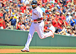 10 June 2012: Boston Red Sox designated hitter David Ortiz in action against the Washington Nationals at Fenway Park in Boston, MA. The Nationals defeated the Red Sox 4-3 to sweep their 3-game interleague series. Mandatory Credit: Ed Wolfstein Photo