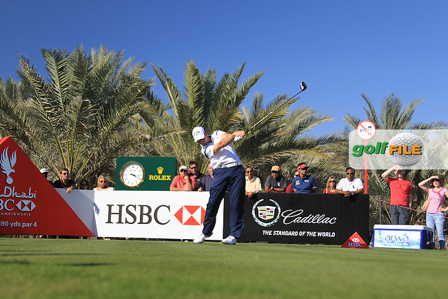 Garth Mulroy (RSA) tees off the 14th tee during Saturday's Round 3 of the Abu Dhabi HSBC Golf Championship at Abu Dhabi Golf Club, 19th January 2013 .Photo Eoin Clarke/www.golffile.ie