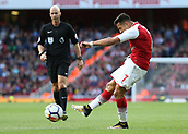 9th September 2017, Emirates Stadium, London, England; EPL Premier League Football, Arsenal versus Bournemouth; Alexis Sanchez of Arsenal taking a shot