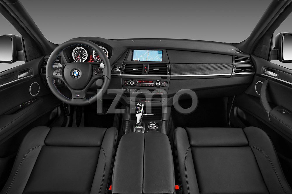 Straight  dashboard view of a 2013 BMW X5 M