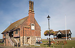 The Moot Hall is an early sixteenth century building originally with small shops on the ground floor. The town council continues to meet in the upper floor and the building also houses a small museum. Aldeburgh, Suffolk, England
