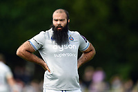 Kane Palma-Newport of Bath Rugby looks on during a break in play. Pre-season friendly match, between Bristol Rugby and Bath Rugby on August 12, 2017 at the Cribbs Causeway Ground in Bristol, England. Photo by: Patrick Khachfe / Onside Images