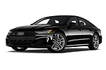 Stock pictures of low aggressive front three quarter view of 2020 Audi A7 Premium-Plus 5 Door Hatchback Low Aggressive