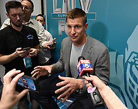 MIAMI BEACH, FL - JANUARY 28: Rob Gronkowski attends the Fox Sports Media Day during Super Bowl LIV week on January 28, 2020 in Miami Beach, Florida. (Photo by Frank Micelotta/Fox Sports/PictureGroup)