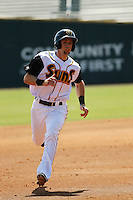 Jacksonville Suns infielder Austin Nola (36) in action during a game against the Pensacola Blue Wahoos at Bragan Field on the Baseball Grounds of Jacksonville on May 11, 2015 in Jacksonville, Florida. Jacksonville defeated Pensacola 5-4. (Robert Gurganus/Four Seam Images)