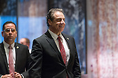 New York State Governor Andrew Cuomo is seen upon his arrival in in the lobby of Trump Tower in New York, NY, USA on January 18, 2017. <br /> Credit: Albin Lohr-Jones / Pool via CNP