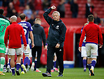 Chris Wilder manager of Sheffield Utd acknowledges the fans during the Championship match at the Riverside Stadium, Middlesbrough. Picture date: August 12th 2017. Picture credit should read: Simon Bellis/Sportimage