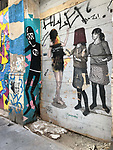 Valencia-Spain, January 08, 2018; <br /> street art / graffiti i.a. by David de Limón (Limon);<br /> Photo © HorstWagner.eu