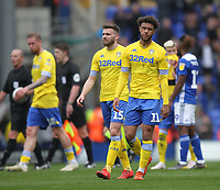 Leeds United's players look dejected<br /> <br /> Photographer Mick Walker/CameraSport<br /> <br /> The EFL Sky Bet Championship - Birmingham City v Leeds United - Saturday 6th April 2019 - St Andrew's - Birmingham<br /> <br /> World Copyright © 2019 CameraSport. All rights reserved. 43 Linden Ave. Countesthorpe. Leicester. England. LE8 5PG - Tel: +44 (0) 116 277 4147 - admin@camerasport.com - www.camerasport.com