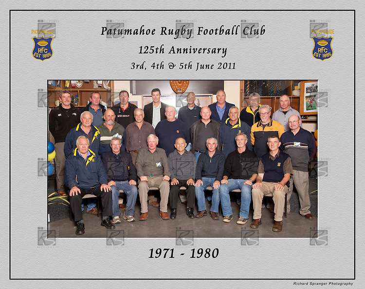 1971 to 1980 Patumahoe Rugby Club 125th Anniversary group photo, June 4th 2011.