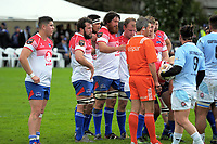 A scrum sets during the Heartland championship rugby match between Horowhenua Kapiti and East Coast at Otaki Domain in Otaki, New Zealand on Saturday, 23 September 2017. Photo: Dave Lintott / lintottphoto.co.nz