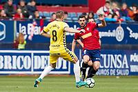 Fran M&eacute;rida (medium; CA Osasuna) during the Spanish <br /> la League soccer match between CA Osasuna and CD Lugo at Sadar stadium, in Pamplona, Spain, on Saturday, <br /> April 28, 2018.