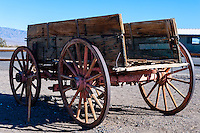 United States, California, Death Valley. Stovepipe Wells, an old wagon.