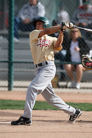 January 17, 2010:  Danny Carreon (Glendale, AZ) of the Baseball Factory Southwest Team during the 2010 Under Armour Pre-Season All-America Tournament at Kino Sports Complex in Tucson, AZ.  Photo By Mike Janes/Four Seam Images