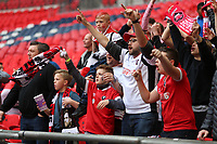 Salford City fans singing during AFC Fylde vs Salford City, Vanarama National League Play-Off Final Football at Wembley Stadium on 11th May 2019