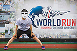 Participants compete at the Wings for Life World Run on May 3, 2015 in Yilan, Taiwan. Photo by Victor Fraile / Power Sport Images