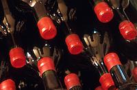 Europe/France/Aquitaine/33/Gironde/Macau: Col des bouteille de vin Magnums dans les chais de château Bellevue