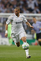 25.04.2012 Madrid Spain, UEFA Champions League Semi Final 2nd leg  Real Madrid vs Bayern Munchen. Picture show Kepler Laveran Pepe (Portuguese/Brazilian defender of Real Madrid)