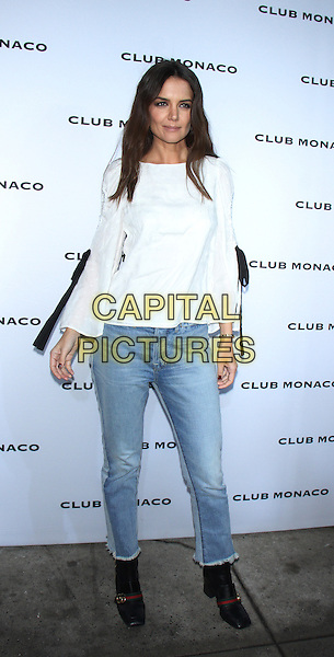 NEW YORK, NY February  10, 2017:Katie Holmes attend Club Monaco Fashion Week Spring Collection  at Club Monaco Flagship store on 160 5th Avenue  in New York . February 10, 2017. <br /> CAP/MPI/RW<br /> &copy;RW/MPI/Capital Pictures