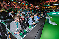 Rotterdam, The Netherlands, 18 Februari, 2018, ABNAMRO World Tennis Tournament, Ahoy, Singles final, Left photographers box<br /> <br /> Photo: www.tennisimages.com