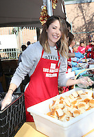 Los Angeles, CA - NOVEMBER 23: Amanda Crew, At Los Angeles Mission Thanksgiving Meal For The Homeless At Los Angeles Mission, California on November 23, 2016. Credit: Faye Sadou/MediaPunch
