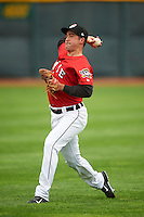 Erie Seawolves pitcher Whit Mayberry (23) throws in the outfield before a game against the Richmond Flying Squirrels on May 20, 2015 at Jerry Uht Park in Erie, Pennsylvania.  Erie defeated Richmond 5-2.  (Mike Janes/Four Seam Images)