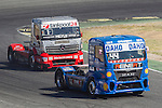 Hungarian driver Norbert Kiss belonging German team Tankpool 24 Racing German driver Stephanie Halm belonging German team Stephanie Halm during the third race R3 of the XXX Spain GP Camion of the FIA European Truck Racing Championship 2016 in Madrid. October 02, 2016. (ALTERPHOTOS/Rodrigo Jimenez)