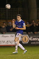 Samuel George Edmundson of Oldham Athletic during Hampton & Richmond Borough vs Oldham Athletic, Emirates FA Cup Football at the Beveree Stadium on 12th November 2018