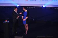 SPORT: HEERENVEEN: Trinitas, 30-01-2013, Sportgala Fryslân, Toine van Peperstraten, Saakje Mulder (directeur Sport Fryslan(, ©foto Martin de Jong