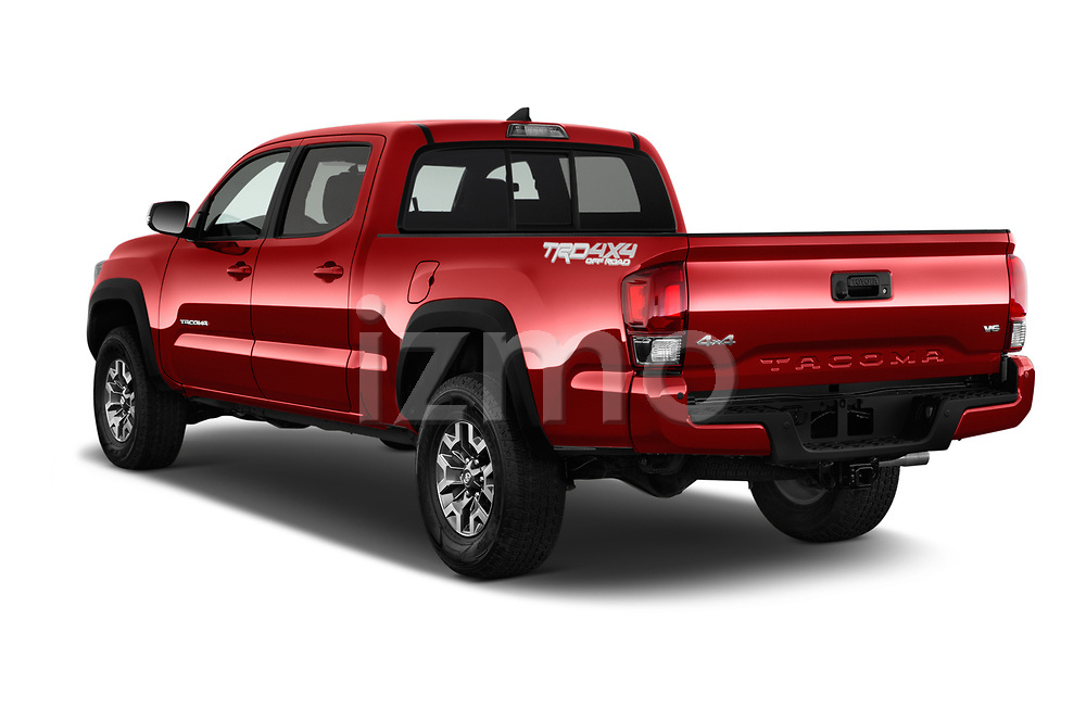 Car pictures of rear three quarter view of 2016 Toyota Tacoma TRD Off Road Double 4 Door Pick Up angular rear