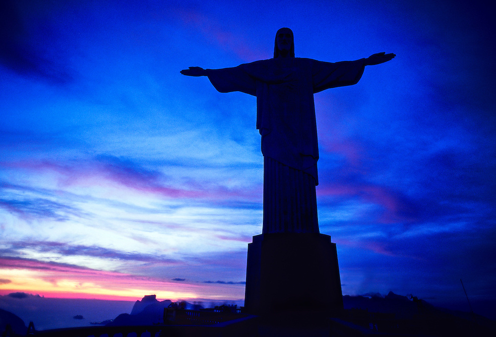 View of Statue of Christ the Redeemer (Cristo Redentor) at ...