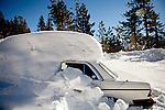 A car is buried under record early season snowfall in Soda Springs, Calif., January 6, 2011. California has already received 80% of its normal annual precipitation in the first two months of a rainy season that lasts another four months..CREDIT: Max Whittaker for The Wall Street Journal.CALWATER