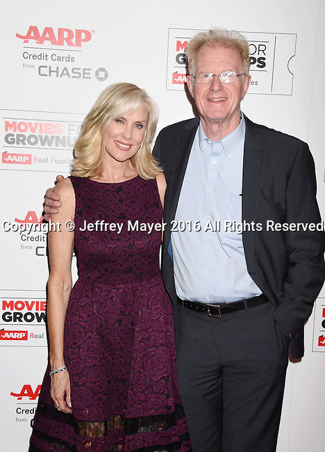 BEVERLY HILLS, CA - FEBRUARY 08: Producer Rachelle Carson; Ed Begley Jr. attends AARP's Movie For GrownUps Awards at the Regent Beverly Wilshire Four Seasons Hotel on February 8, 2016 in Beverly Hills, California.