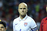 22 July 2015: Michael Bradley (USA). The United States Men's National Team played the Jamaica Men's National Team at the Georgia Dome in Atlanta, Georgia in a 2015 CONCACAF Gold Cup semifinal match. Jamaica won the game 2-1.