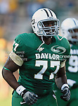 Baylor Bears offensive linesman Kelvin Palmer (77) in action during the game between the Rice Owls and the Baylor Bears at the Floyd Casey Stadium in Waco, Texas. Baylor defeats Rice 56 to 31..